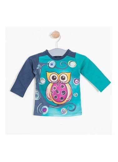 Soobe Newborn Tişört Kız Bebek Giyim İndigo